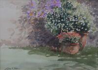 William G Perkins (British 20th Century) Sunlit Corner Signed  Watercolour