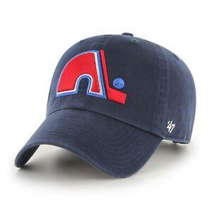 New Quebec Nordiques NHL Hockey Blue 47 Brand Clean Up Adjustable Cap Hat