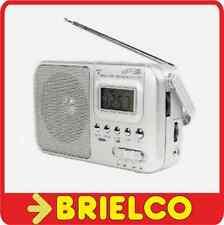 RADIO AM-FM-SW1-SW2 PORTATIL RELOJ ALARMA ALIMENTACION 220VAC O PILAS R20 BD6390