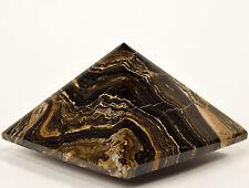 "2.3"" Peruvian Stromatolite Pyramid Natural Carved Algae Fossil Crystal Stone"