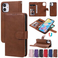 Fr iPhone 12 Pro MAX 11 Xr 7 8 Plus Magnetic Removable Leather Wallet Case Cover