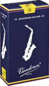 Anche de saxophone Alto Mib/Eb Vandoren traditionnelle - boite de 10 anches