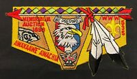 AWAXAAWE AWACHIA OA LODGE 535 BSA TRAPPER TRAILS UT AUCTION 1998 $100 DONOR FLAP