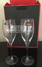 DOM PERIGNON CHAMPAGNE CRYSTAL FLUTE BY RIEDEL X 2 AUSTRIAN CRYSTAL NEW