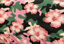 25 cm Jersey Sweat Kinderstoff Camouflage Lotusblüte Digitaldruck 15€/m