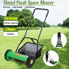 Hand Push Lawn Mower Courtyard Home Reel Mower Manual Lawnmower Grass Catcher