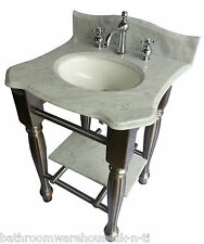 fonte Ensemble lavabo placard Windsor & BUCKINGHAM Carrara marbre