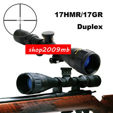 Hunting 3-12X40 AO Rifle Scope Optic Sight 20mm Rail Mount Duplex 17HMR/17GR