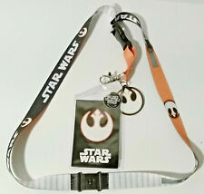 Rebel X-Wing Pilot Star Wars Deluxe Lanyard w Rubber Charm & ID Card-Licensed