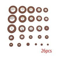 26 pcs Leather Pads Replacement for Alto Saxophone Musical Instrument Parts Q
