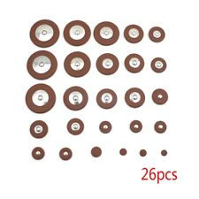 26 pcs Leather Pads Replacement for Alto Saxophone Musical Instrument Parts