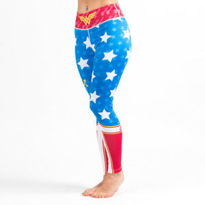 Fusion Fight Gear Wonder Woman Spats Leggings Compression Yoga Pants Tights