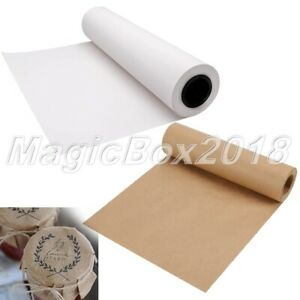 30m/Roll Kraft Wrapping Paper Gift Box Card Letter Packaging Envelopes Craft DIY