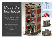 LEGO CUSTOM INSTRUCTIONS MOC - MODULAR TOWNHOUSE - MODEL A2 - PDF MANUAL