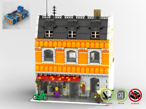 Modular Ice Cream Store - MOC - PDF Instructions Manual - Compatible with LEGO