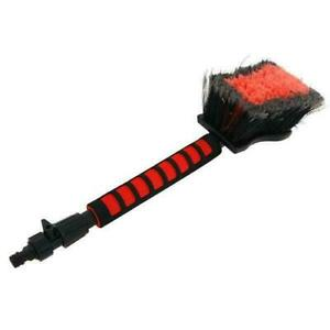"""20"""" Long Handle Car Wash Brush With On-off Ball Valve - Hose Pipe Fitting"""
