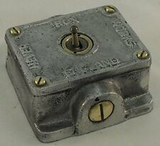 Metal Fundido Vintage Industrial 1 Gang Retrofit Interruptor De Luz-Bs en aprobado