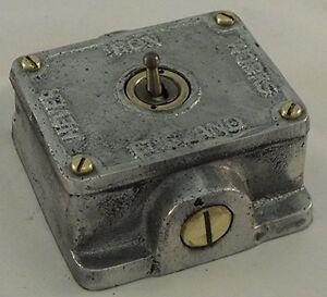 Cast Metal Vintage Industrial 1 Gang Retrofit Light Switch - BS EN Approved