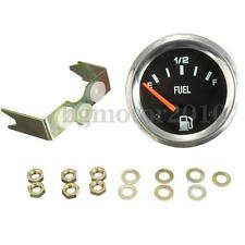 2'' 52mm Mechanical Car Fuel Level Gauge Without Sensor Black Face E-1/2-F 12V