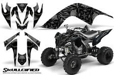 YAMAHA RAPTOR 700 GRAPHICS KIT DECALS STICKERS CREATORX SKULLCIFIED BLACK