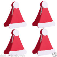 4 X SANTA HAT TABLE PLACE SETTING NAME CARD HOLDER CHRISTMAS PARTY DECORATION