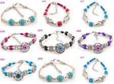 Wholesale Lots 7pcs Fashion Stylish Colorful mixed Tibetan silver charm bracelet