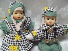 Rare Peoples Republic of China Porcelain Dolls Painted Face Pigtails Holland HTF