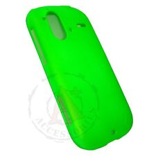 Rubberized Neon Green HARD Case Snap on Phone Cover for T-Mobile HTC Amaze 4G