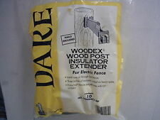 Dare - Woodex Wood Post Extender Insulator for Electric Fence - 10pk. Wood Post