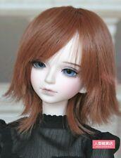 BJD Doll Hair Wig 7-8 inch 18-20cm brown 1/4 MSD DZ DOD LUTS 03-6