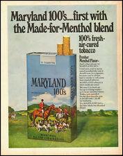 1970 Vintage ad for MARYLAND 100's Menthol Flavor Cigarettes (011613)