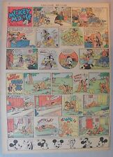 Mickey Mouse Sunday Page by Walt Disney from 4/14/1940 Tabloid Page Size