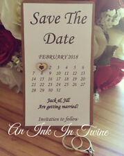 Save The Date Personalised Wedding Invitation Invite Handmade Wooden Heart
