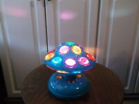 """Lighted 6"""" Color Rotating Ball Lamp Spinning NightLight Decoration for Kids Room"""