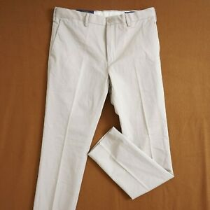 Polo Ralph Lauren Mens Chino Pants Cotton Beige Khaki Size 34 x 34 Stretch Slim