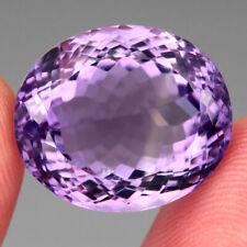 VVS 25.09 Ct. 19x16mm Oval Cut 100% Natural Top Rich Purple Amethyst Unheated Nr