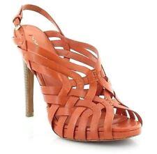 Via Spiga Phoebe Women's Leather Platform Sandal Pump Orange