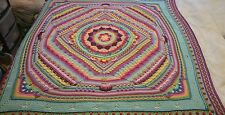 Sophie's Universe Hand Made Crochet Bed Spread/Throw Approx 60 Inches Square