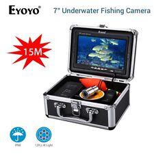 "15M 1000TVL 7"" Unterwasserjagd Kamera 12PCS IR LEDs frei Sonnenblende Fishfinder"