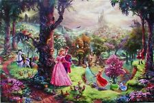 "Thomas Kinkade Sleeping Beauty 18"" x 27"" G/P Limited Disney Lithograph on Paper"