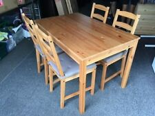 Pine Rectangular Dining Furniture Sets with 5 Pieces