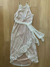 Likely Dress Size 4 White Lace Nude Illusion Saks Fifth avenue