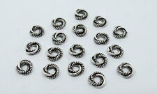 18 Pieces Jump Ring Silver Beads Jump Ring Bali Beads Spacer Love Knot Beads 8mm
