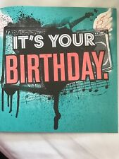 Birthday Card with Music Party Like A Rock Star Lot 2-4