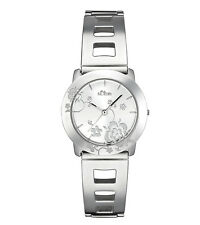 s.Oliver SO-1387-MQ Damen Uhr Edelstahl poliert neu