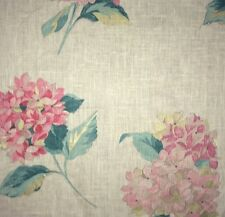 DESIGNERS GUILD Elenora Floral Linen Pink Green Cream Gold Remnant New