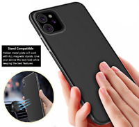Soft Silicone Magnetic Metal Phone Case Cover iPhone 12 11 Pro Max XR X XS 8 7 6