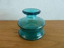"""Dansk Designs France  Aqua Glass Candle Holder  Jens Quistgaard   2 1/8"""""""