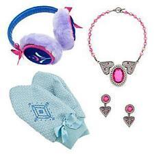 Disney Store Frozen Anna Accessories Set Necklace * Earrings * Mittens * Earmuff