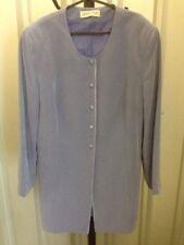 Jaques Vert Women's Jacket Long Padded Shoulders Purple Plus Size 16 (11)